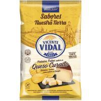 Patatas sarten queso curado VICENTE VIDAL, bolsa 135 g