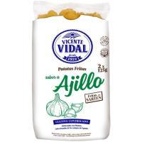 Patatas sarten sabor al ajillo VICENTE VIDAL, bolsa 250 g