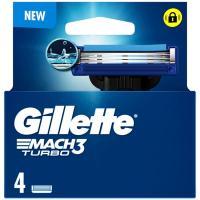 Cargador de afeitar GILLETTE Mach3 Turbo, pack 4 uds