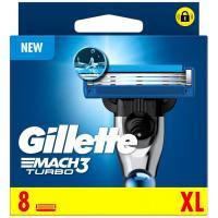 Cargador de afeitar GILLETTE Mach3 Turbo, pack 8 uds