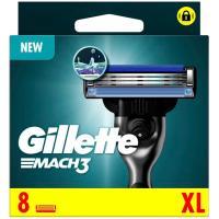 Cargador de afeitar GILLETTE Mach3, pack 8 uds