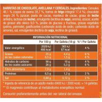 Barrita de cereales con avellana y chocolate FONTANEDA, 160 g