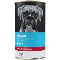 Alimento con buey para perro EROSKI, lata 1,23 kg
