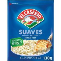 Queso rallado suave EL CASERIO, bolsa 130 g