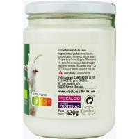 Kefir de leche de cabra EROSKI BIO, frasco 420 g