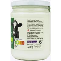Kefir de leche de vaca EROSKI BIO, frasco 420 g