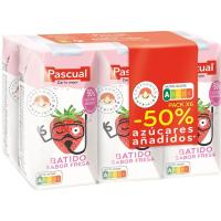 Batido sabor a fresa PASCUAL, pack 6x200 ml