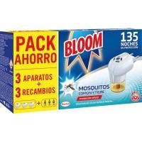 Insecticida eléctrico mosquitos BLOOM, 3 aparatos + 3 recambios