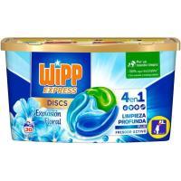 Detergente en cápsulas floral WIPP, caja dosis