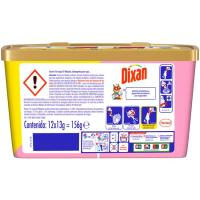 Detergente triocaps pink DIXAN, caja 12 dosis