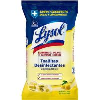 Toallitas cíitrico LYSOL, paquete 30 uds