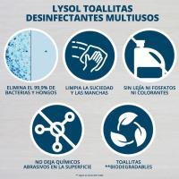 Toallitas cítrico LYSOL, paquete 80 uds