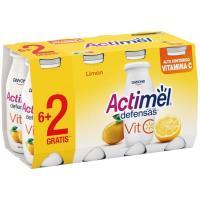 Bebida de leche de limón vitamina C ACTIMEL pack, 8x100 g