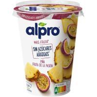 Fermentado de piña y fruta de la pasión ALPRO, tarrina 400 g