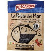 Espaguetis de merluza con tinta de sepia PESCANOVA, bolsa 125 g