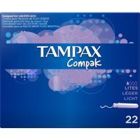 Tampón Compak Lites TAMPAX, caja 22 uds