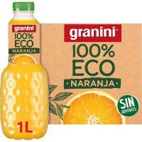 Zumo de naranja ecológico GRANINI, botella 1 litro