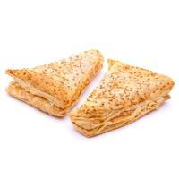 Triángulo hojaldre de jamón y queso EROSKI, bandeja 2 uds