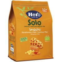 Snack ecológico de zanahoria y maíz HERO, bolsa 40 g