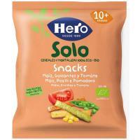 Snack ecológico de maiz-guisante-tomate HERO, bolsa 15 g