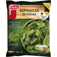 Espinaca en hojas mini porción FINDUS, bolsa 800 g