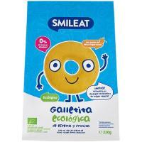 Galletita de espelta y manzana ecológicos SMILEAT, bolsa 220 g