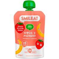 Bolsita de fresa y plátano bio SMILEAT, doypack 100 g