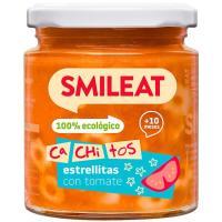 Cachitos de pasta con tomate ecológico SMILEAT, tarro 230 g