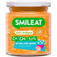 Cachitos de arroz-pavo-verduras ecológicas SMILEAT, tarro 230 g