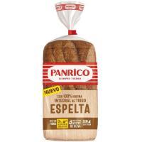 Pan de molde 100% espelta integral PANRICO, paquete 385 g