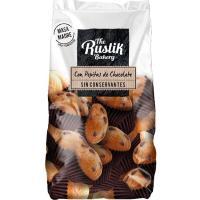 Mini magdalenas pepitas de chocolate RUSTIK BAKERY, bolsa 206 g