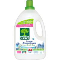 Detergente líquido eco brisa L'ARBRE VERT, garrafa 33 dosis