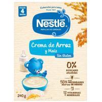 Papilla de maíz y arroz sin gluten NESTLÉ, caja 240 g