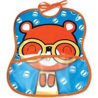 Babero vinilo impreso, bolsillo diseño oso, cierre con cintas 25x30cm TI-TIN, 1 ud