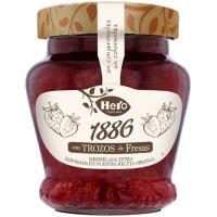 Mermelada de fresa 1886 HERO, frasco 320 g
