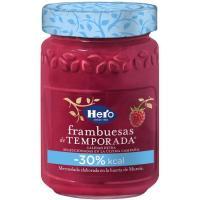Mermelada de frambuesa de temporada -30% kcal HERO, frasco 335 g