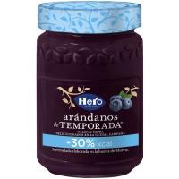 Mermelada de arándanos de temporada -30% kcal HERO, frasco 335 g