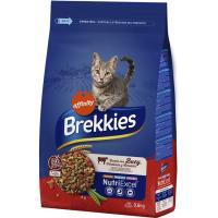 Alimento seco de buey-verdura-cereal gato BREKKIES, saco 3,5 kg