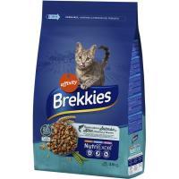 Alimento seco de pescado-verdura para gato BREKKIES, saco 3,5 kg