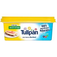 Margarina vegetal con sal y sin palma TULIPÁN, tarrina 225 g