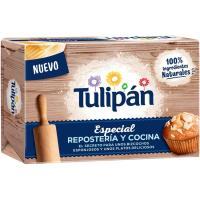 Margarina vegetal reposteria sin palma TULIPAN, pastilla 225 g
