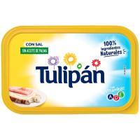 Margarina vegetal  con sal y sin palma TULIPAN, tarrina 450 g