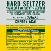 Hard Seltzer cereza açaí TOPO CHICO, lata 33 cl