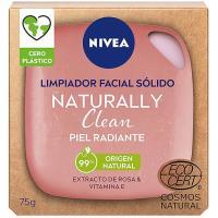 Jabon facial piel radiante naturally NIVEA, pack 1u