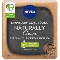 Jabon facial puntos negros naturally NIVEA, pack 1u