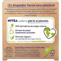Jabon facial exfoliante naturally NIVEA, pack 1u