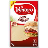 Queso extrafundente EL VENTERO, lonchas, bandeja 150 g