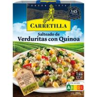 Salteado de verduras con quinoa CARRETILLA, bandeja 250 g