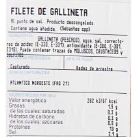 Filete de gallineta al punto de sal, bandeja aprox. 350 g