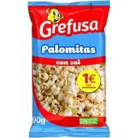 Palomitas de maíz con sal GREFUSA, bolsa 90 g
